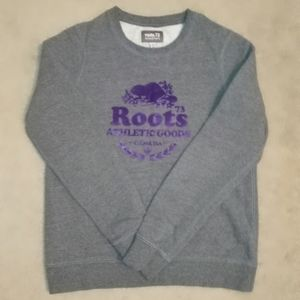 Roots grey sweatshirt size M